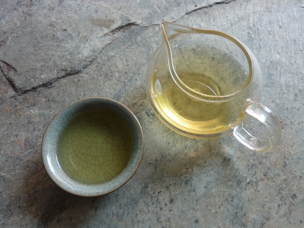 2012 Lao Ban Zhang mao cha broth after four steepings